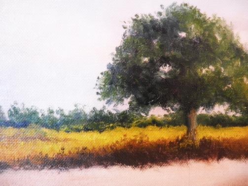 Peindre Un Paysage à Lhuile Prairie De Premier Plan Mes Arbres
